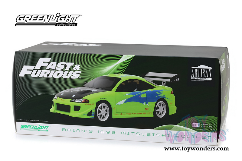 1/18 Scale 995 Mitsubishi-Eclipse (2001 movie) Artisan Fast & Furious Diecast