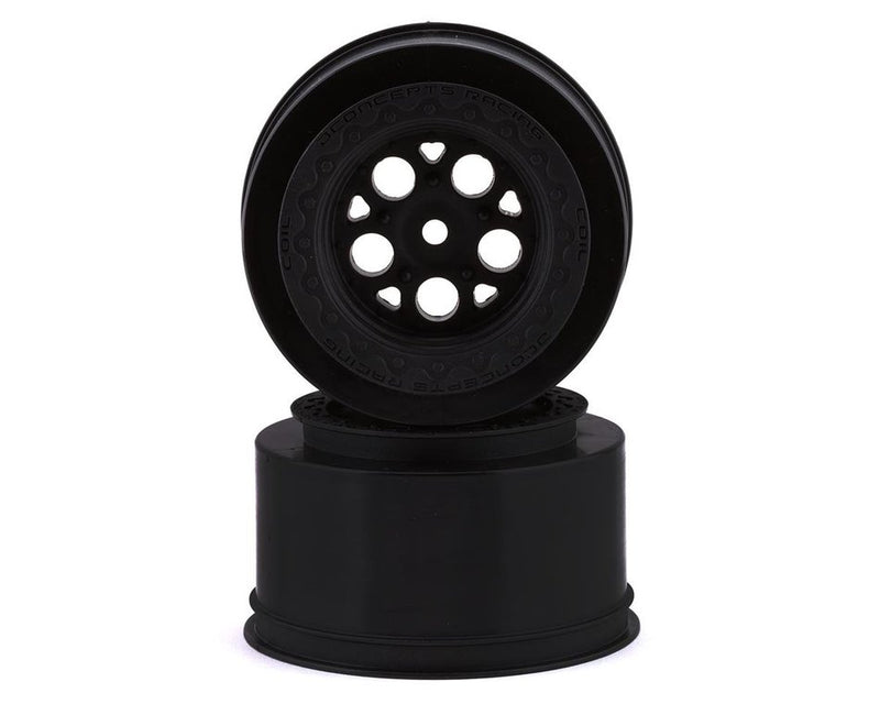 JConcepts Coil Mambo Street Eliminator Rear Drag Racing Wheels (Black) (2) w/12mm Hex