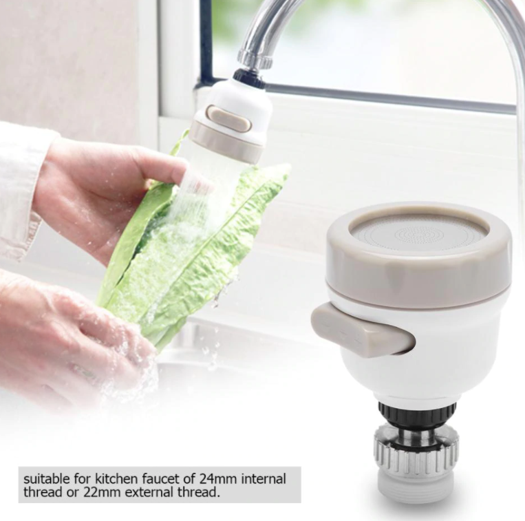 360 Degree Rotatable Spray Head Tap Durable Faucet