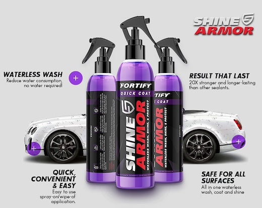 SHINE ARMOR - CERAMIC COAT  WATERLESS WASH, SHINE & PROTECT