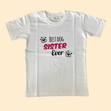 Load image into Gallery viewer, Best Dog Sister Ever Kids T-shirt
