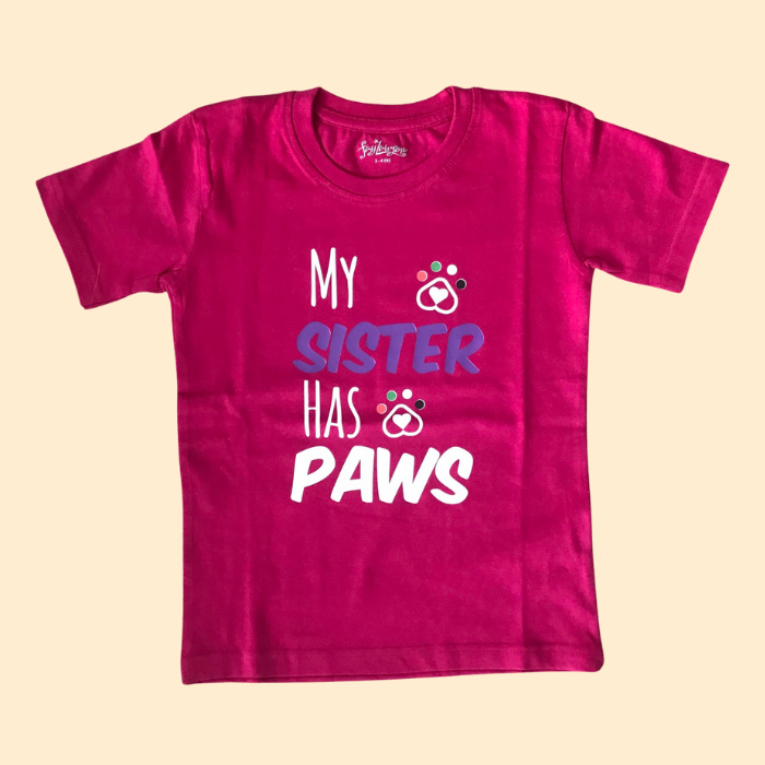 My Sister Has Paws Kids T-shirt