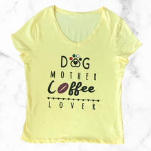 Load image into Gallery viewer, Dog Mother Coffee Lover T-Shirt