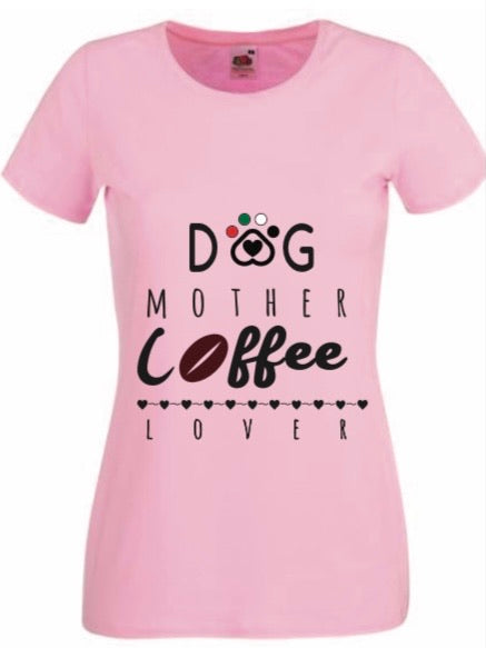 Dog Mother Coffee Lover T-Shirt