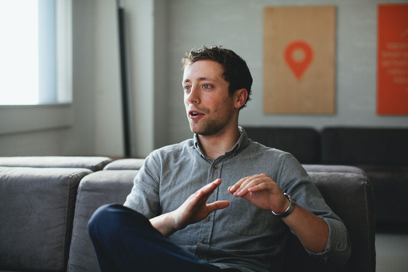 Designer Ed Dorsey at Strava Headquarters