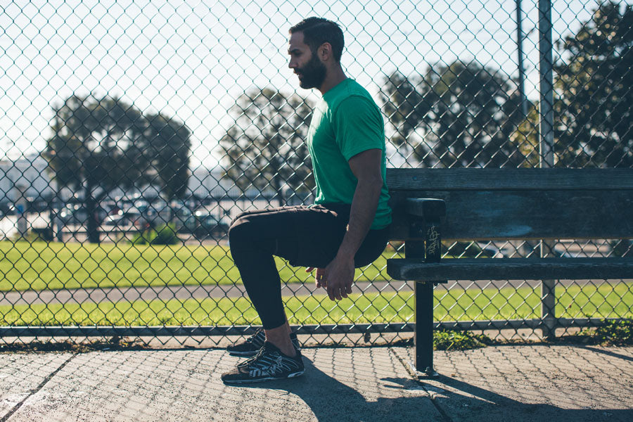Myles Apparel Park Bench Workout Wall Sit