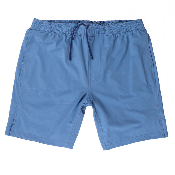 Momentum Short with Liner in Indigo Print - Myles Apparel