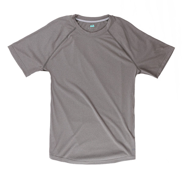 Momentum Tee in Heather Iron - Myles Apparel