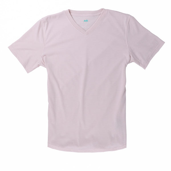 Everyday Tee with V-Neck in Heather Pink