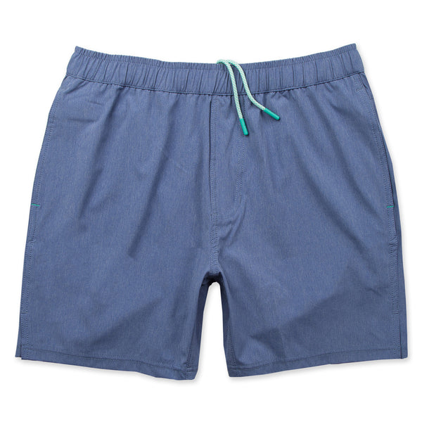 Momentum Short 2.0 with Liner in Heather Marine- Front