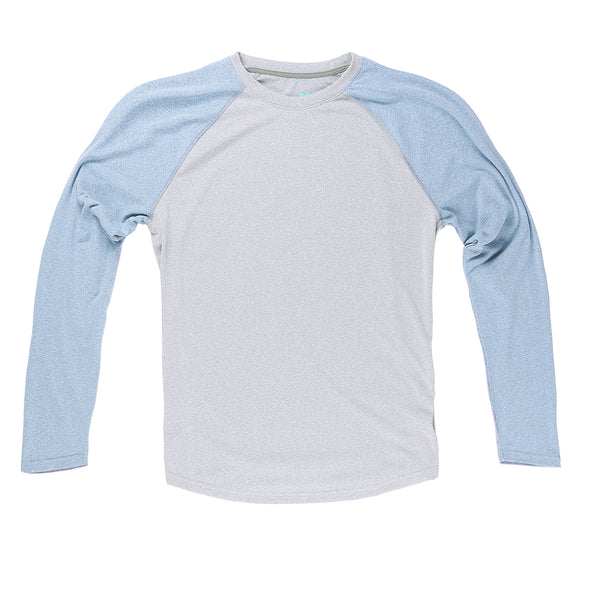 Momentum Long Sleeve in Heather Gray/Sky - Myles Apparel