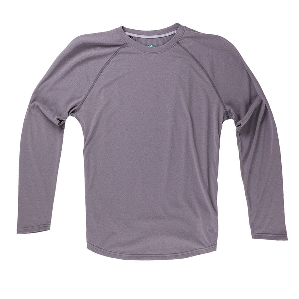 Momentum Long Sleeve in Heather Iron - Myles Apparel