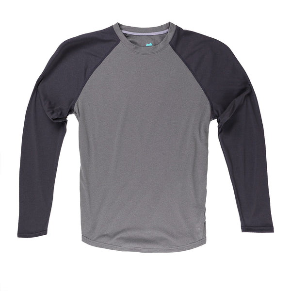 Momentum Long Sleeve in Heather Iron/Coal - Myles Apparel