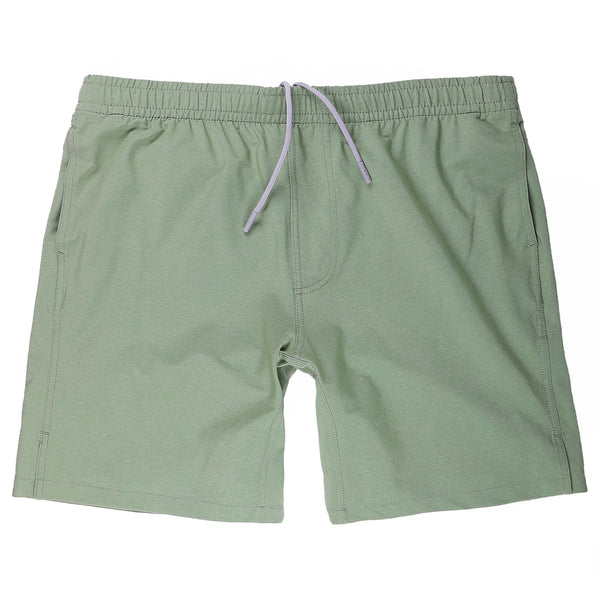 Momentum Short with Liner in Heather Olive - Myles Apparel