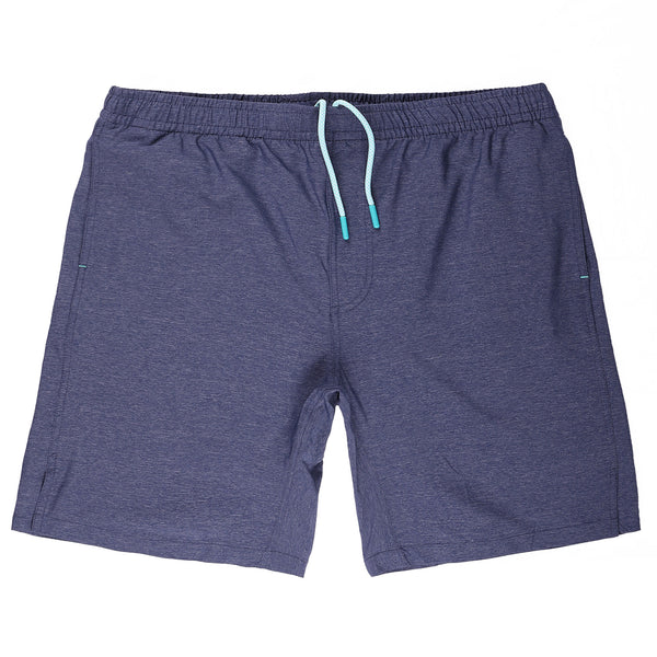 Momentum Short with Liner in Heather Navy
