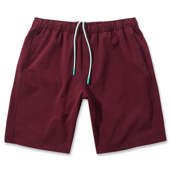 Everyday Short in Oxblood- Front