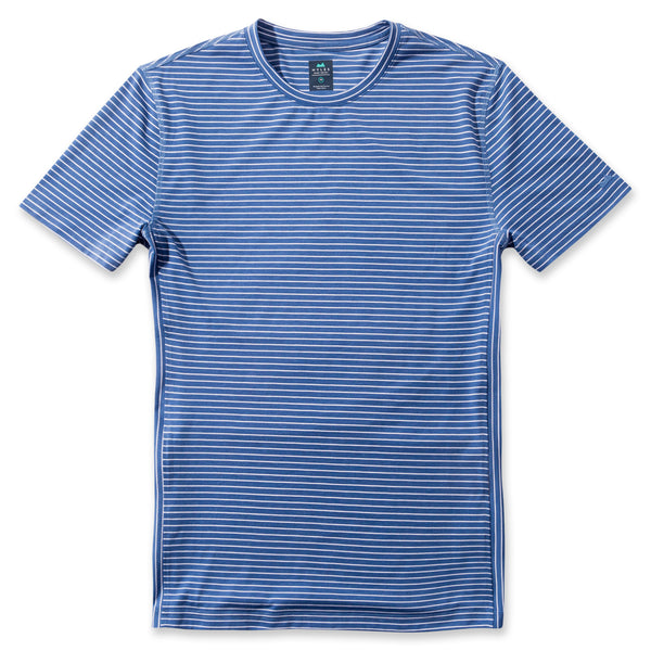 Everyday Tee in Striped Marine- Front