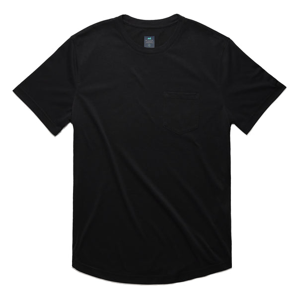 Everyday Tee with Pocket in Coal