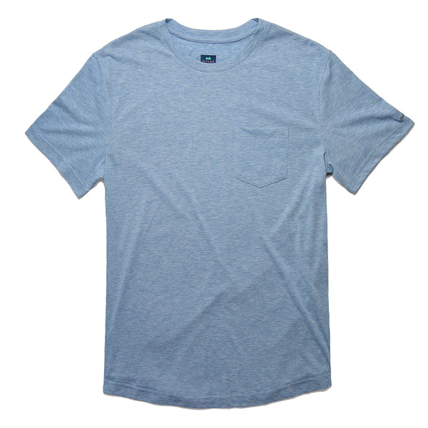 Everyday Tee with Pocket in Heather Indigo