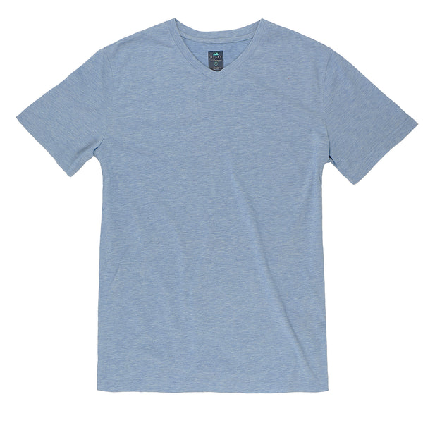 Everyday Tee with V-Neck in Heather Indigo