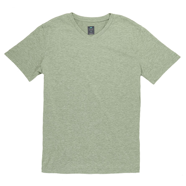 Everyday Tee with V-Neck in Heather Clover