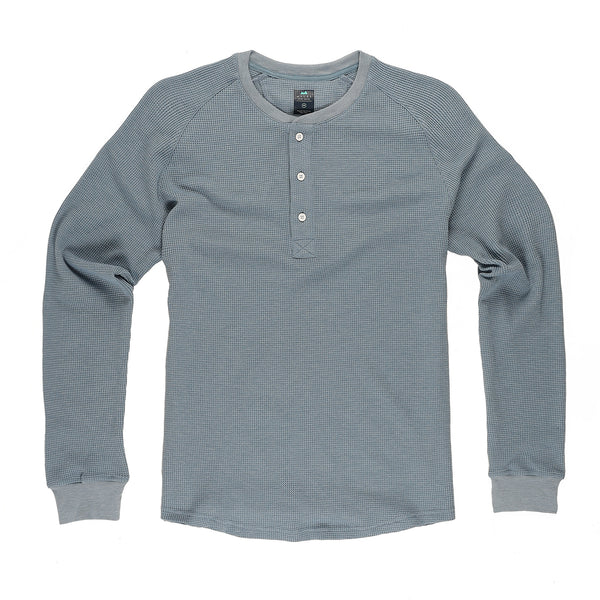 Weekend Thermal Henley in Glacier
