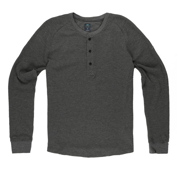 Weekend Thermal Henley in Granite