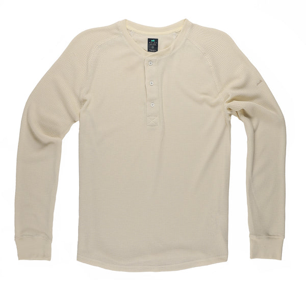 Weekend Thermal Henley in Oatmeal
