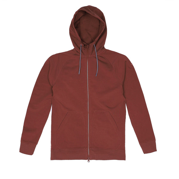 Storm Cotton Hoodie in Crimson - Myles Apparel