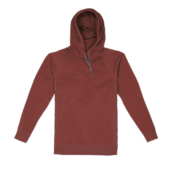 Storm Cotton Pullover Hoodie in Crimson - Myles Apparel