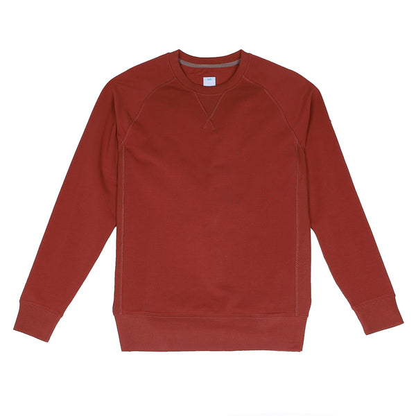Storm Cotton Crew Sweatshirt in Crimson - Myles Apparel