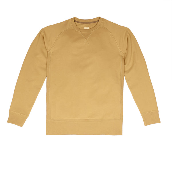 Storm Cotton Crew Sweatshirt in Caramelo - Myles Apparel