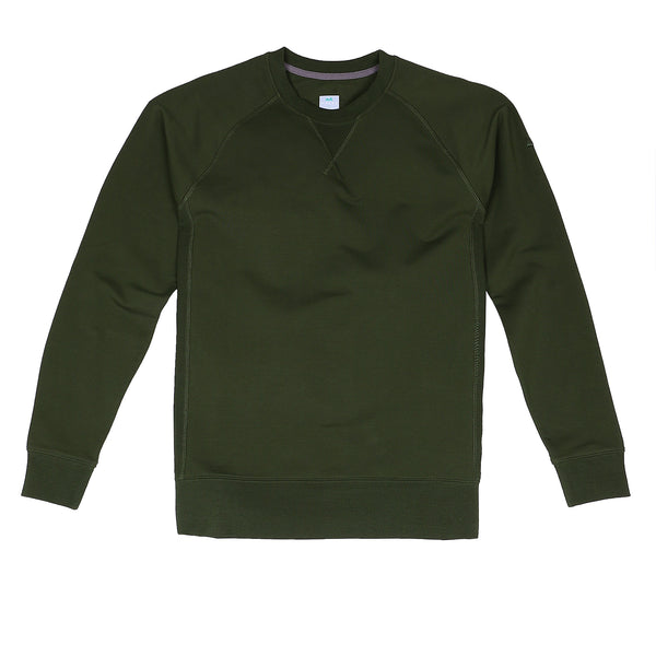 Storm Cotton Crew Sweatshirt in Pine - Myles Apparel