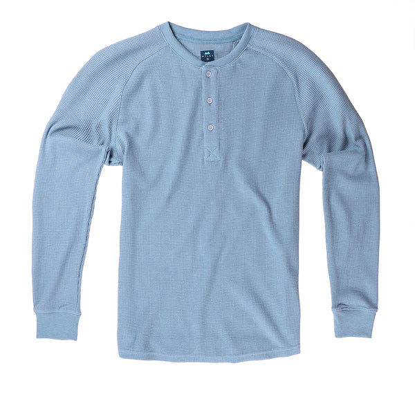Weekend Thermal Henley in Glacier - Myles Apparel