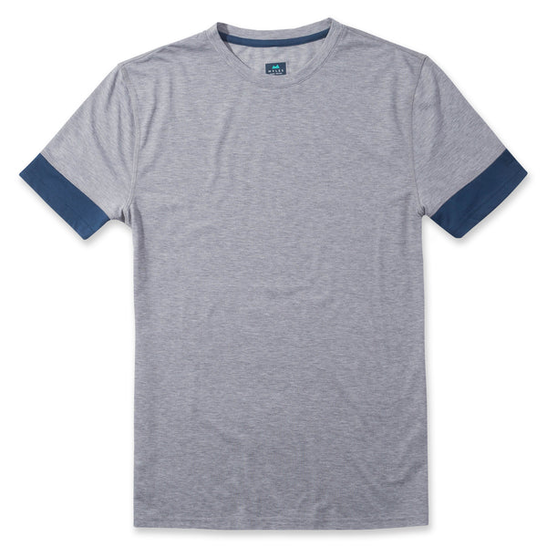Interval Tee in Heather Gray- Front