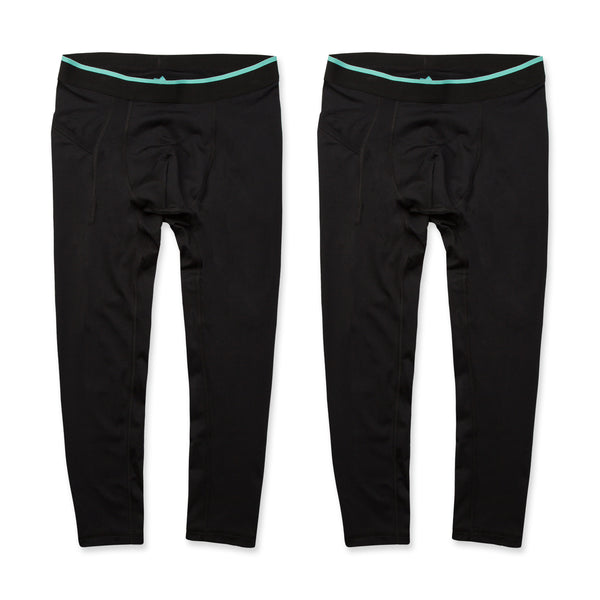 Momentum Compression 3/4 Pant 2 Pack in Coal/Coal - Myles Apparel