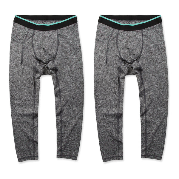 Momentum Compression 3/4 Pant 2 Pack in Granite/Granite