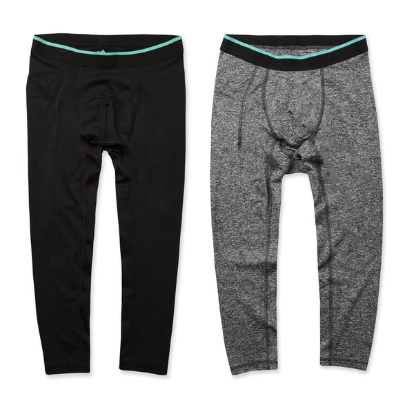 Momentum Compression 3/4 Pant 2 Pack in Coal/Granite