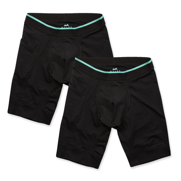 Momentum Compression Short 2 Pack in Coal/Coal - Myles Apparel