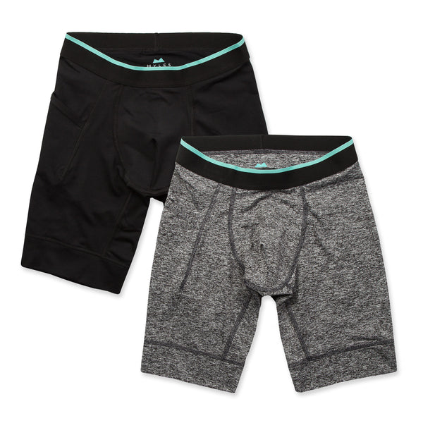 Momentum Compression Short 2 Pack in Coal/Granite