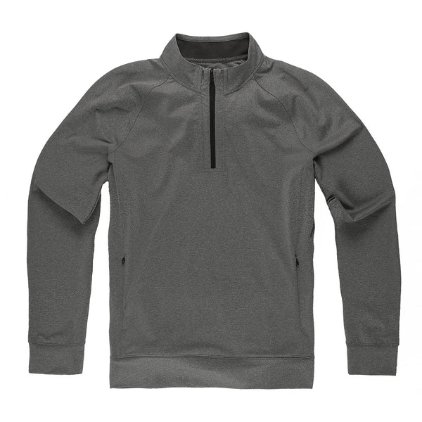 Momentum Quarter-Zip in Granite