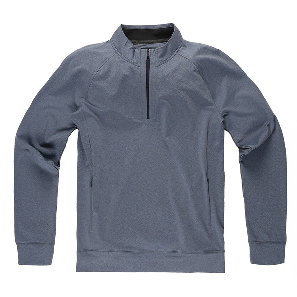 Momentum Quarter-Zip in Heather River - Myles Apparel