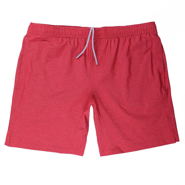 Momentum Short in Heather Red