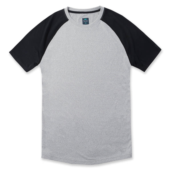 Momentum Tee in Heather Gray/Charcoal- Front