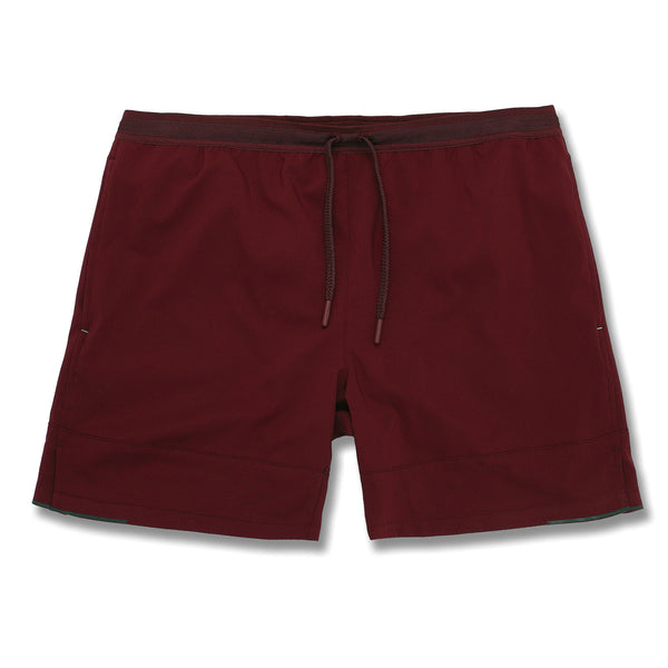 Switchback Short in Oxblood
