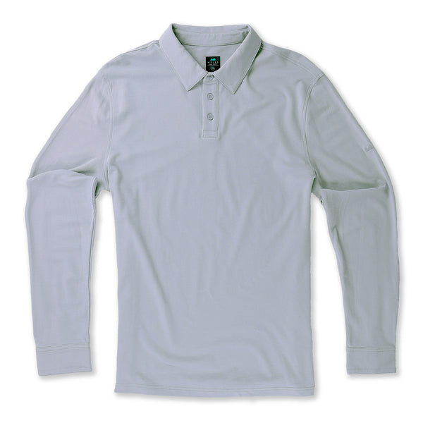 Tour Polo Long Sleeve in Fog - Myles Apparel