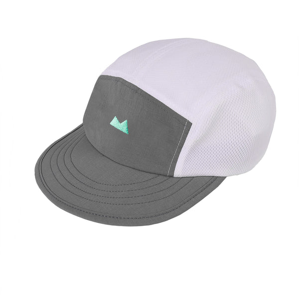 Momentum Cap in White with Fog - Myles Apparel