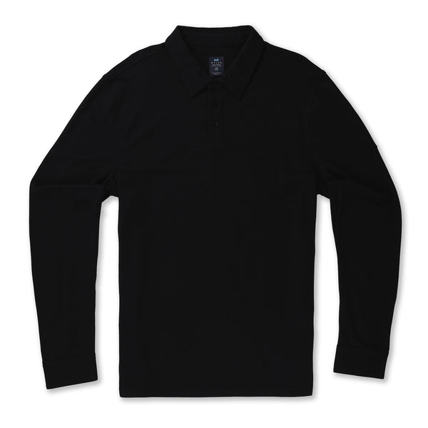 Tour Polo Long Sleeve in Coal - Myles Apparel