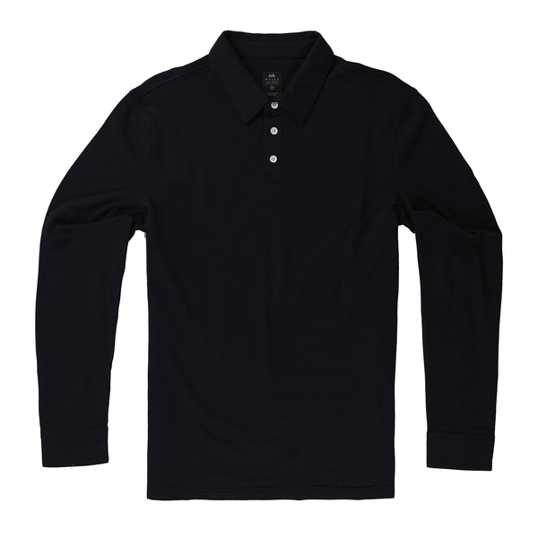 Tour Polo Long Sleeve in Deep Sea - Myles Apparel