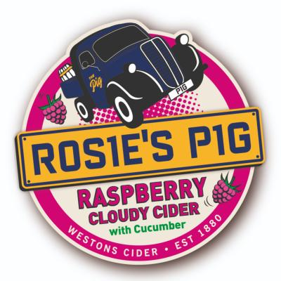 Westons Raspberry Cider 4% - 2 pint option.